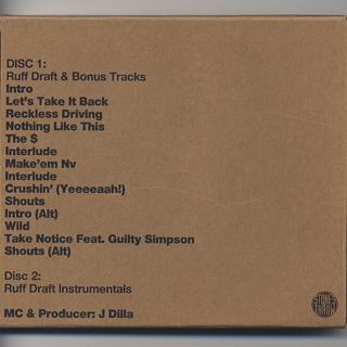 J Dilla / Ruff Draft (CD) back