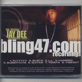 Jay Dee / The Official Jay Dee Instrumental Series Vol.1: Unreleased (CD) back