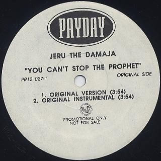 Jeru The Damaja / You Can't Stop The Prophet