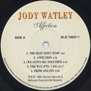Jody Watley / Affection label