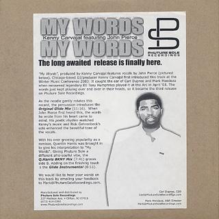 Kenny Carvajal Featuring John Pierce / My Words