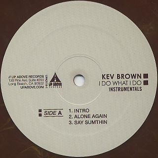 Kev Brown / I Do What I Do Instrumentals (2LP) label