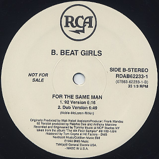 Klein & MBO / Dirty Talk - B. Beat Girls / For The Same Man label