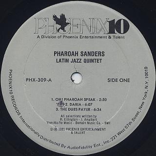 Latin Jazz Quintet featuring Pharoah Sanders / S.T. label