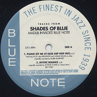 Madlib / Tracks From Shades Of Blue back