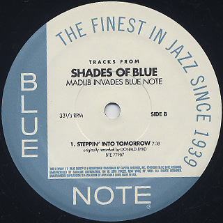 Madlib / Tracks From Shades Of Blue label