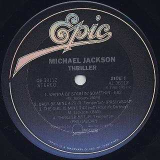 Michael Jackson / Thriller label