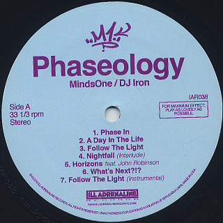 MindsOne & DJ Iron / Phaseology label