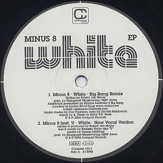 Minus 8 / White EP label
