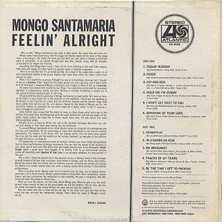 Mongo Santamaria / Feelin' Alright back