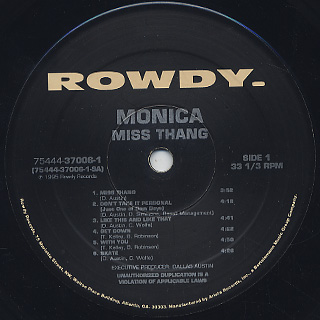 Monica / Miss Thang label