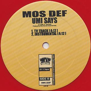 Mos Def / Umi Says back