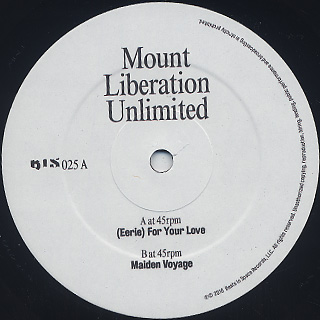 Mount Liberation Unlimited / (Eerie) For Your Love label