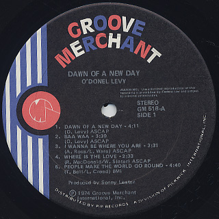O'Donel Levy / Dawn Of A New Day label
