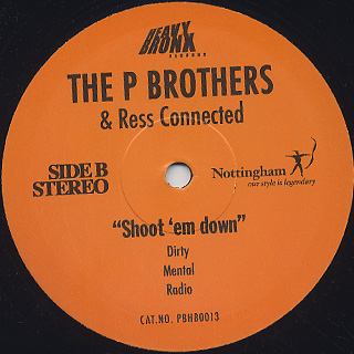 P Brothers / New Religion c/w Shoot 'em Down label