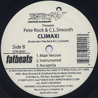 Pete Rock & C.L.Smooth / Shine On Me! back