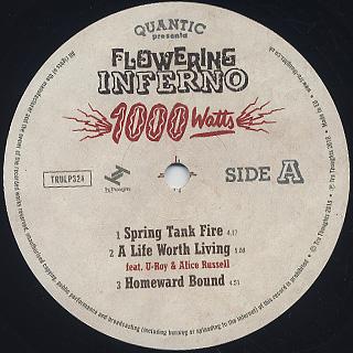 Quantic / Flowering Inferno 1000 Watts label