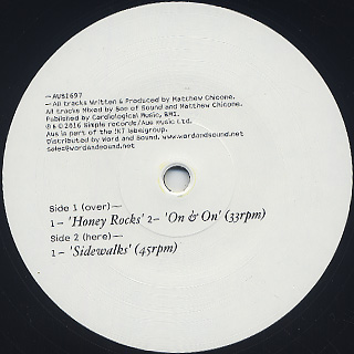 Recloose / Honey Rocks EP back