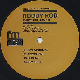 Roddy Rod / Oakwood Grain II label