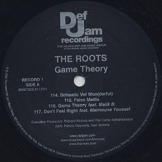 Roots / Game Theory (2LP) label
