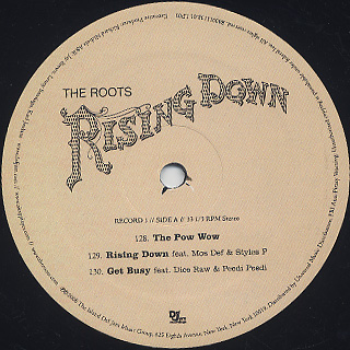 Roots / Rising Down (2LP) label