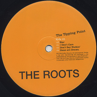 Roots / The Tipping Point (2LP) label