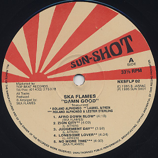 Ska-Flames / Damn Good label