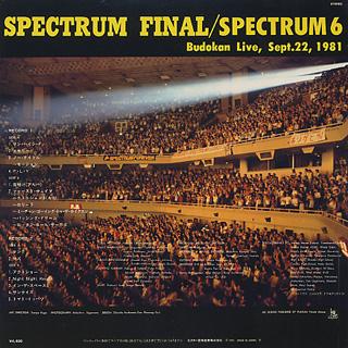 Spectrum 6 / Spectrum Final / Budokan Live Sept. 22, 1981 back