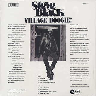 Steve Black / Village Boogie! back