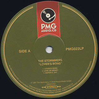 Stormmers / Lover's Song label