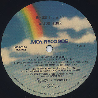 Wilton Felder / Inherit The Wind label