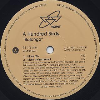 A Hundred Birds / Batonga back