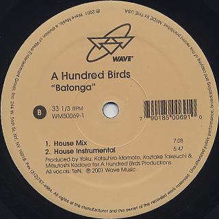 A Hundred Birds / Batonga label