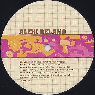 Alexi Delano / Right Before You label