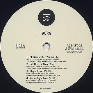 Aura / Aura (LP) label