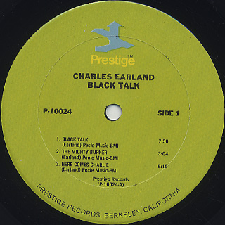 Charles Earland / Black Talk label