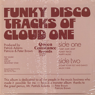 Cloud One / Funky Disco Tracks Of Cloud One back