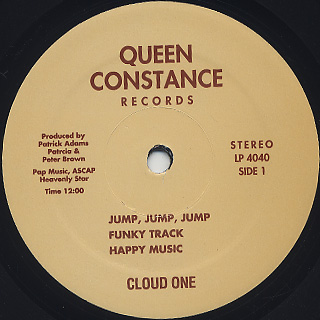 Cloud One / Funky Disco Tracks Of Cloud One label
