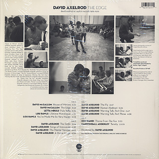 David Axelrod / The Edge: David Axelrod At Capitol Records 1966-1970 (2LP) back