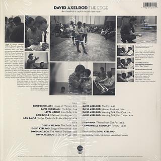 David Axelrod / The Edge: David Axelrod At Capitol Records 1966-1970 (2LP) back
