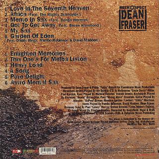 Dean Fraser / Retrospect back