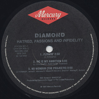 Diamond D / Hatred, Passions And Infidelity (2LP) label