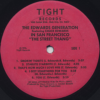 Edwards Generation / In San Francisco label