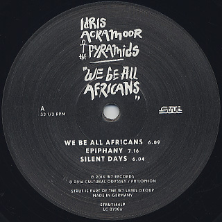 Idris Ackamoor & The Pyramids / We Be All Africans label