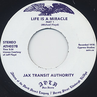 Jax Authority / Life Is A Miracle back