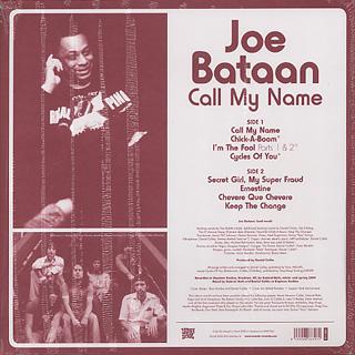 Joe Bataan / Call My Name back