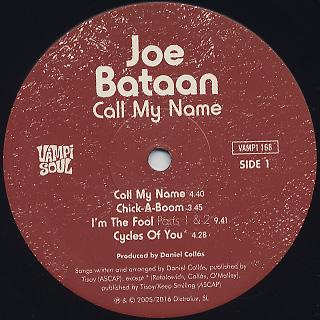 Joe Bataan / Call My Name label