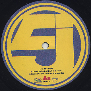 Jurassic 5 / LP label