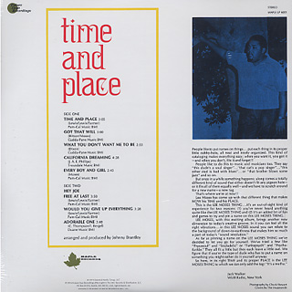 Lee Moses / Time And Place back