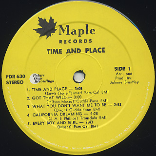 Lee Moses / Time And Place label